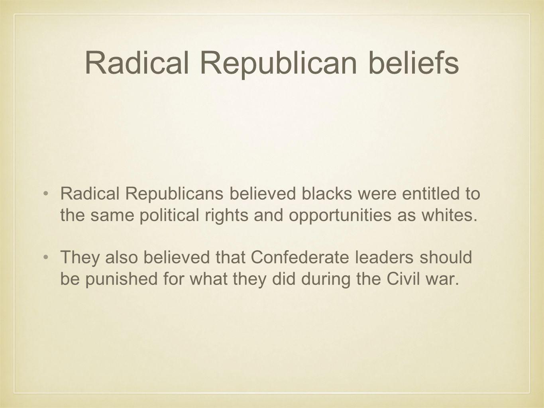 Radical Republican beliefs