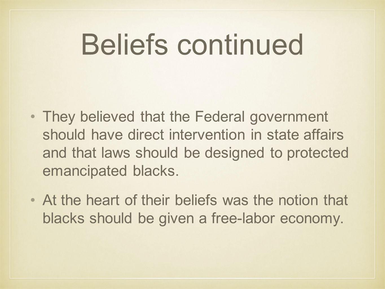 Beliefs continued
