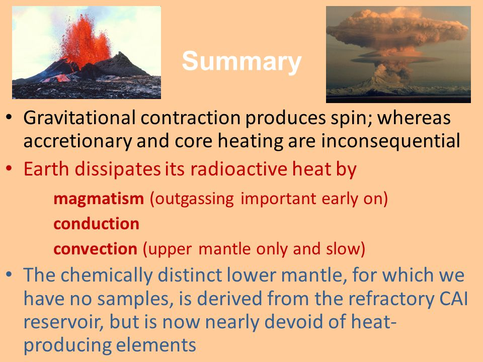 Summary Gravitational contraction produces spin; whereas accretionary and core heating are inconsequential.