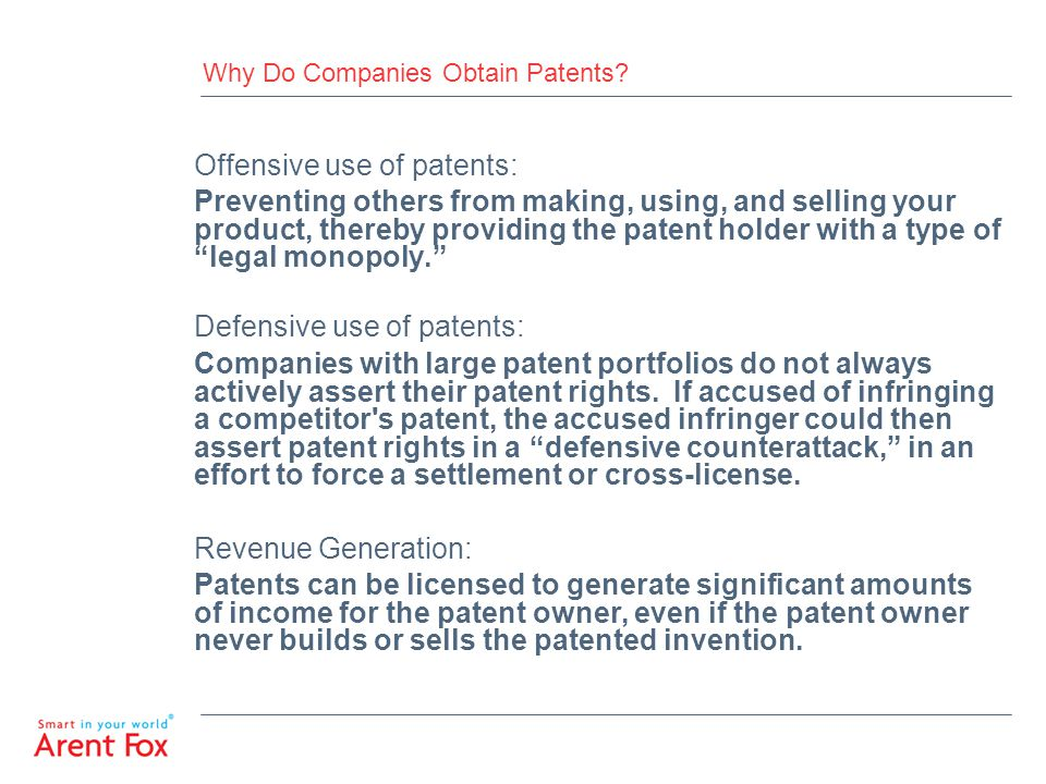 Why Do Companies Obtain Patents