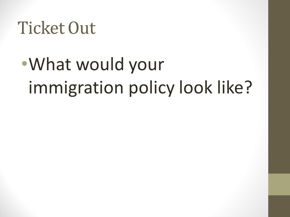 What would your immigration policy look like