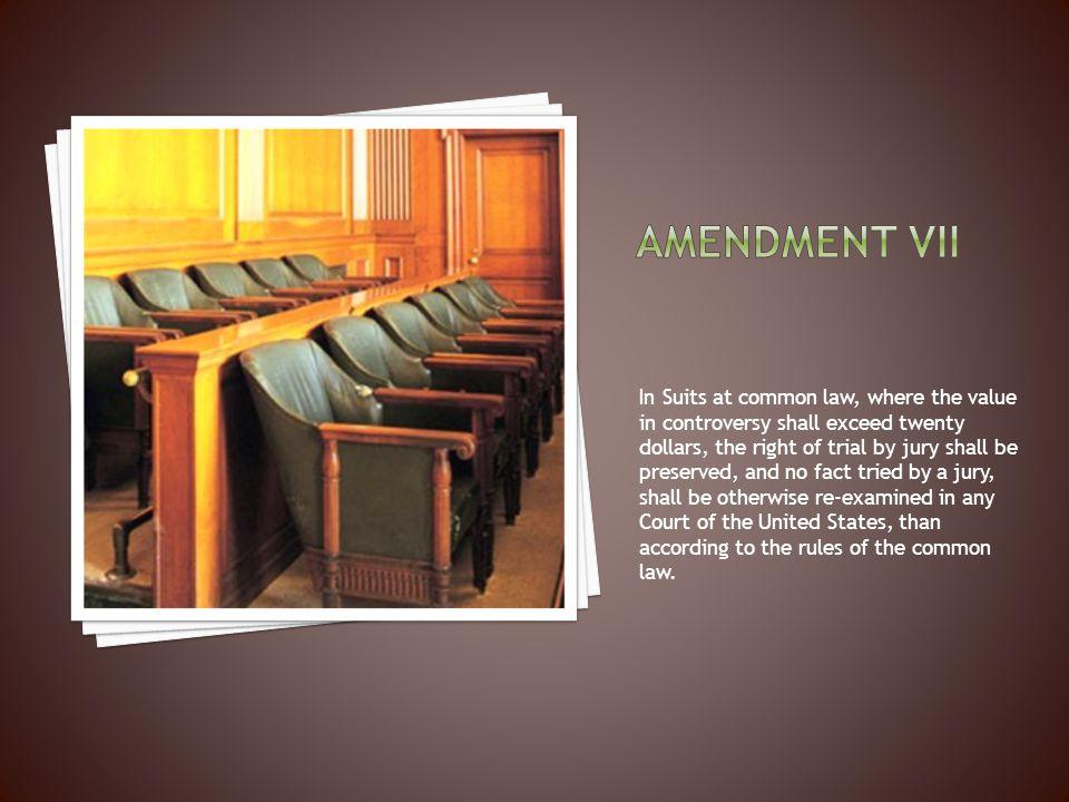Amendment vii