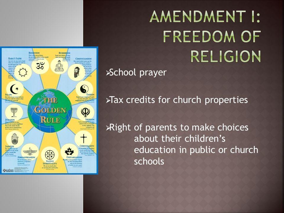 Amendment I: Freedom of Religion