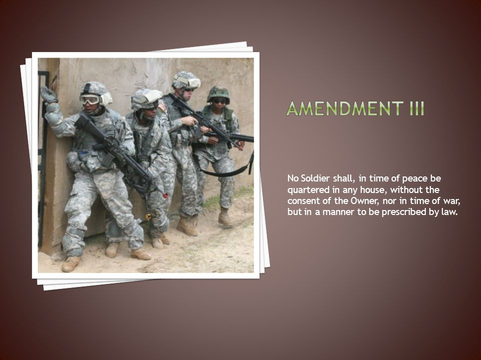 Amendment iii