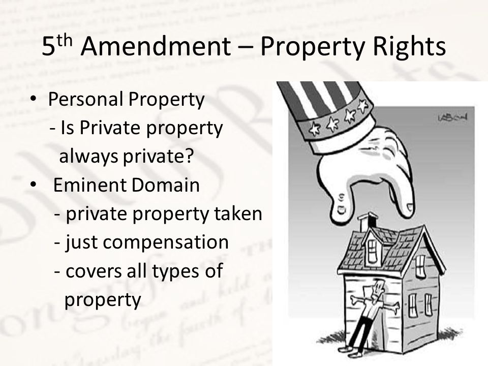 5th Amendment – Property Rights