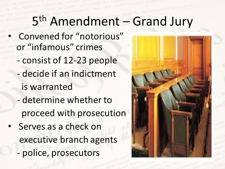 5th Amendment – Grand Jury