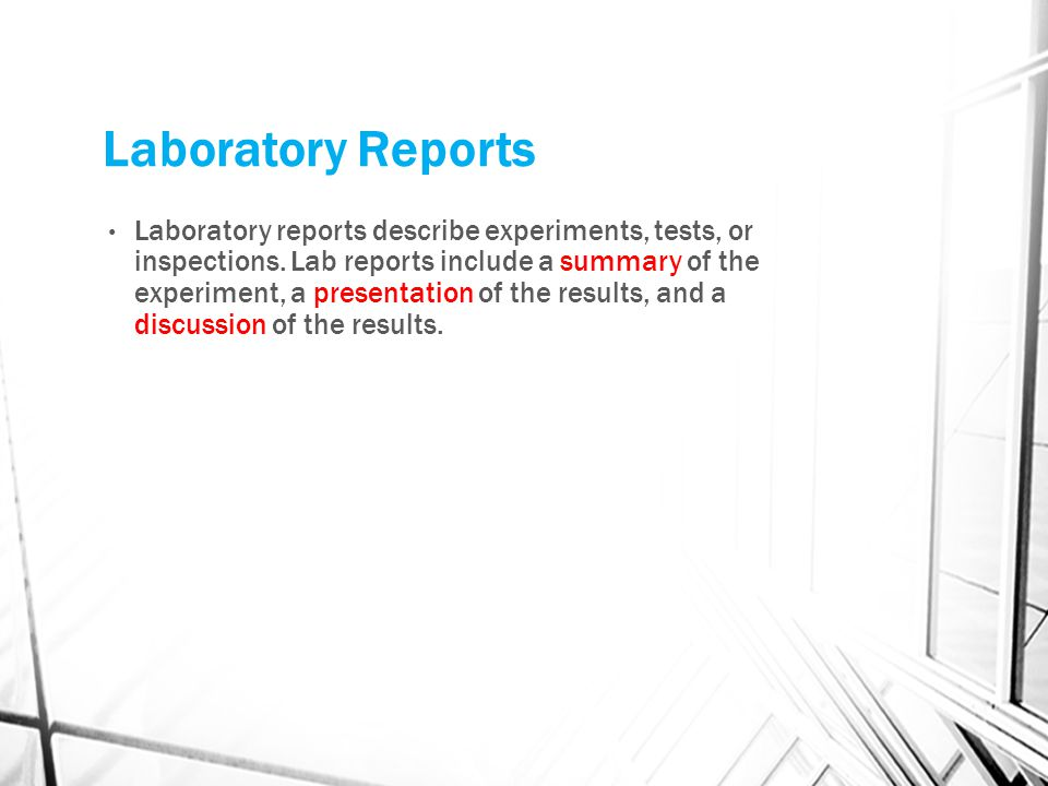 Laboratory Reports