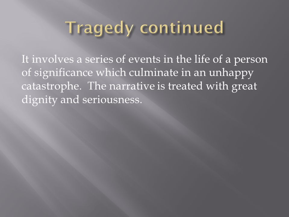 Tragedy continued