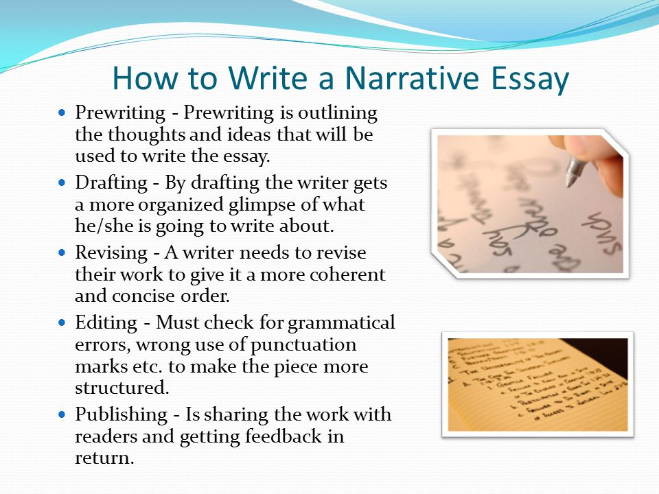 How to create a heading for a narrative essay