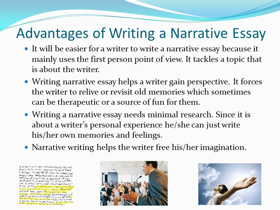 how to start a personal narrative essay The day my grandfather died was actually the saddest day of my life this is because as a child, i lived with my grandfather since i was living with him, my grandfather not only became the most important person in my life, but he was also my best friend with whom i shared my happier times and my sad times.