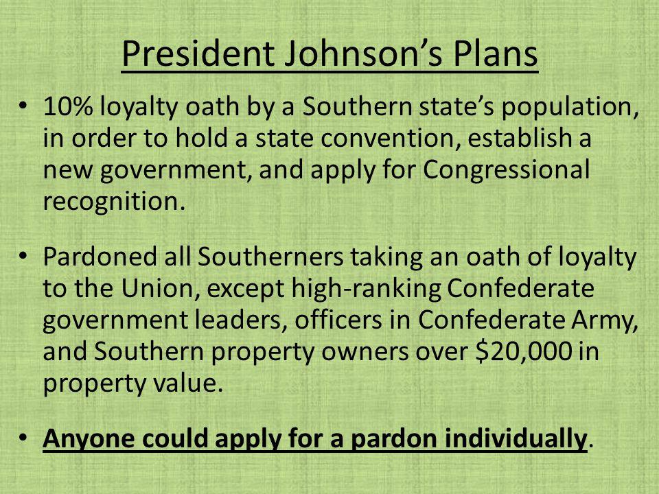 President Johnson's Plans