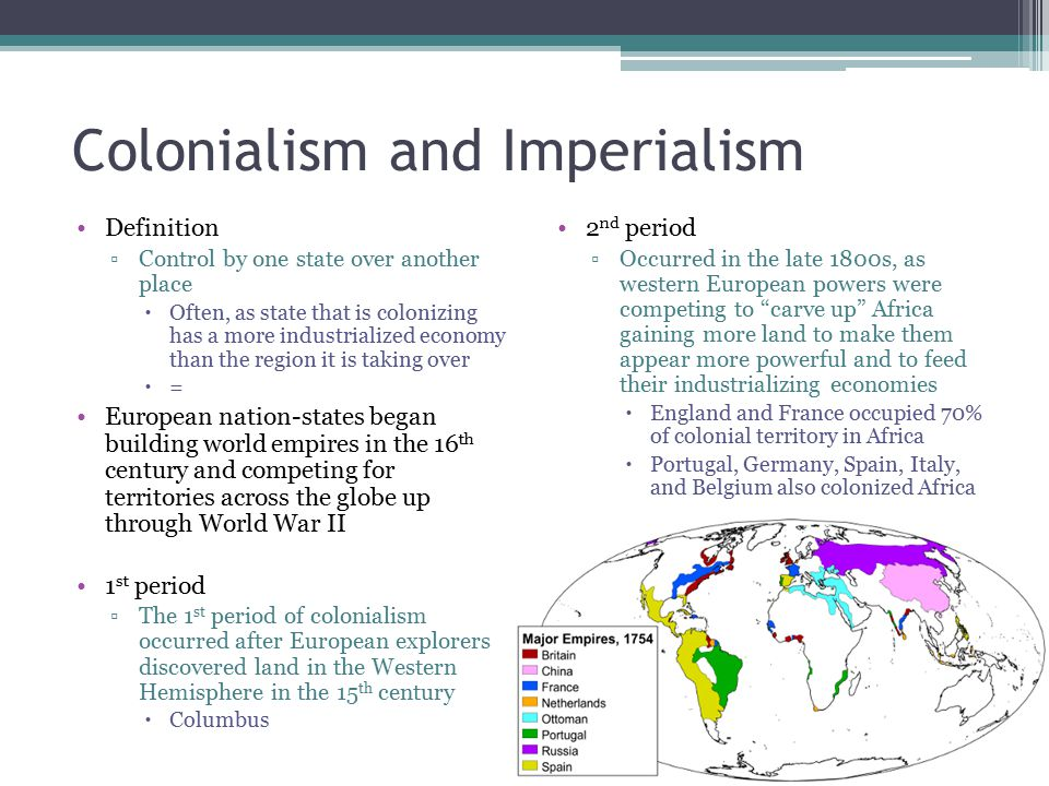 Colonialism and Imperialism