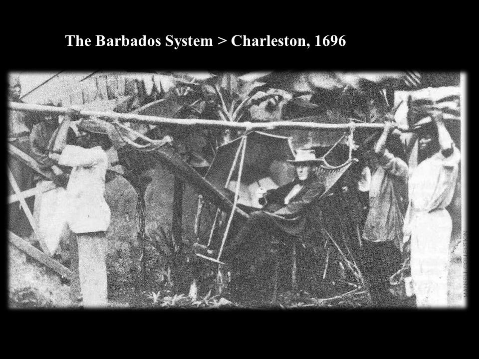 The Barbados System > Charleston, 1696