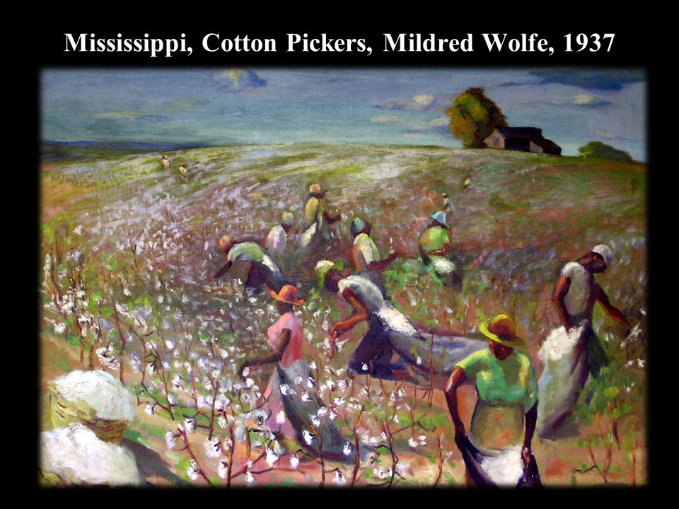 Mississippi, Cotton Pickers, Mildred Wolfe, 1937