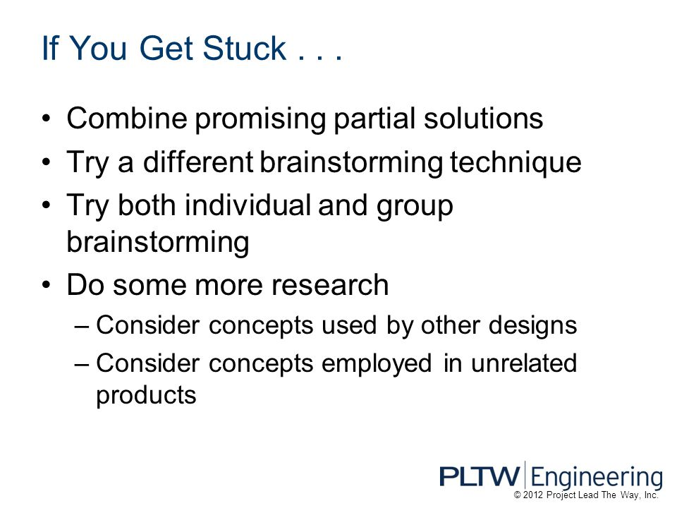 If You Get Stuck . . . Combine promising partial solutions