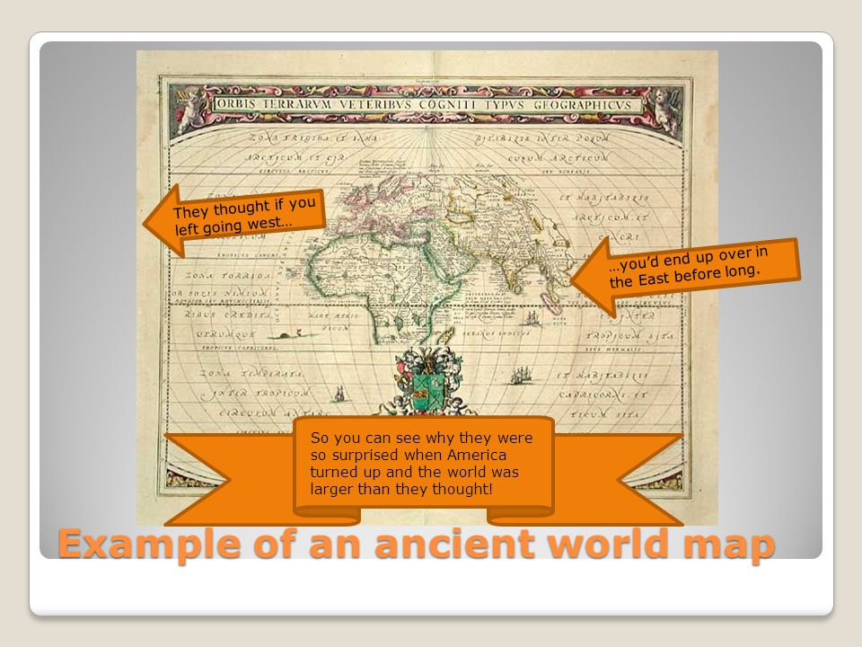 Example of an ancient world map