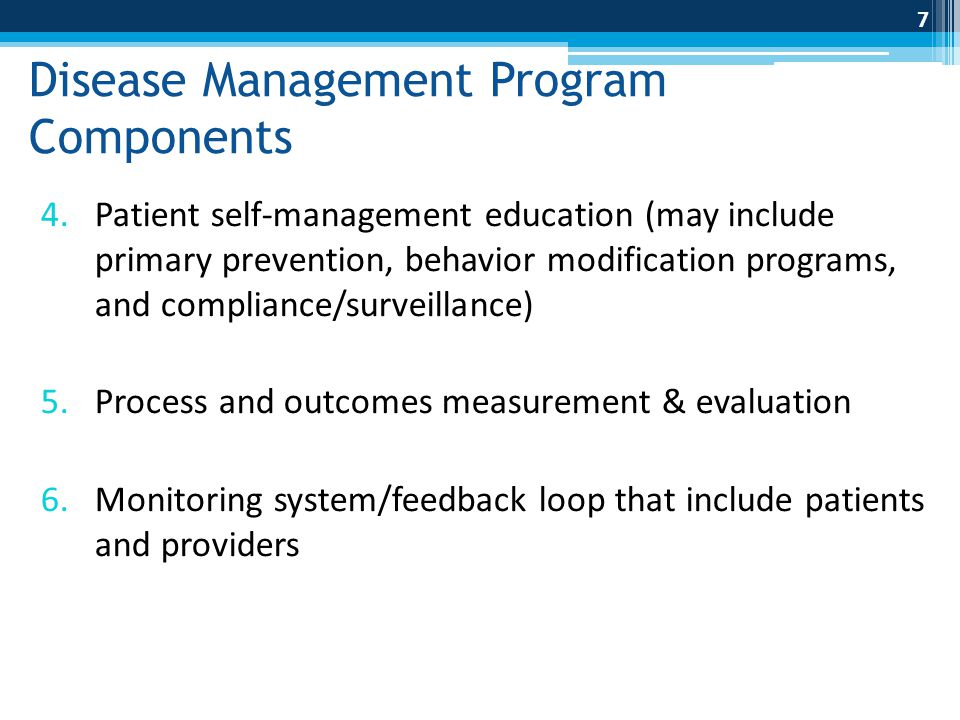 Disease Management Program Components