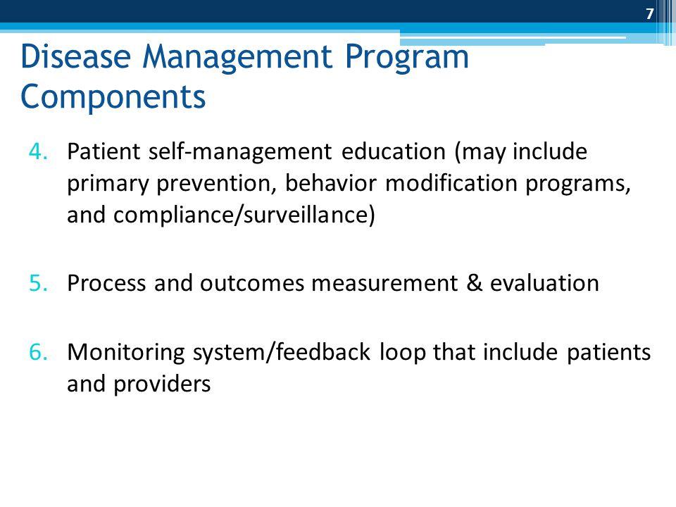 Disease Management Program Components