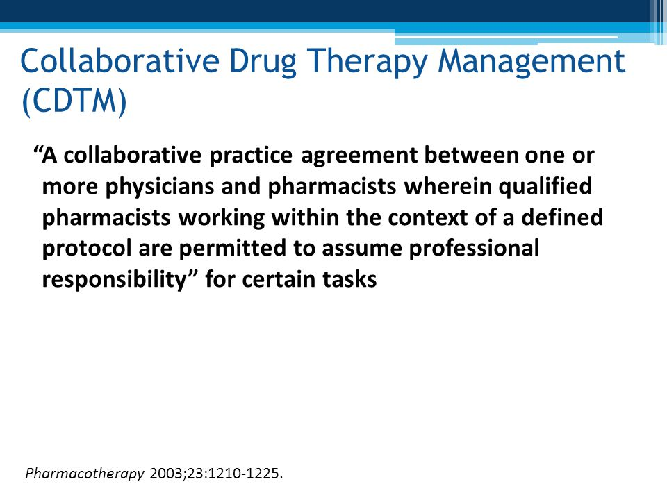 Collaborative Drug Therapy Management (CDTM)