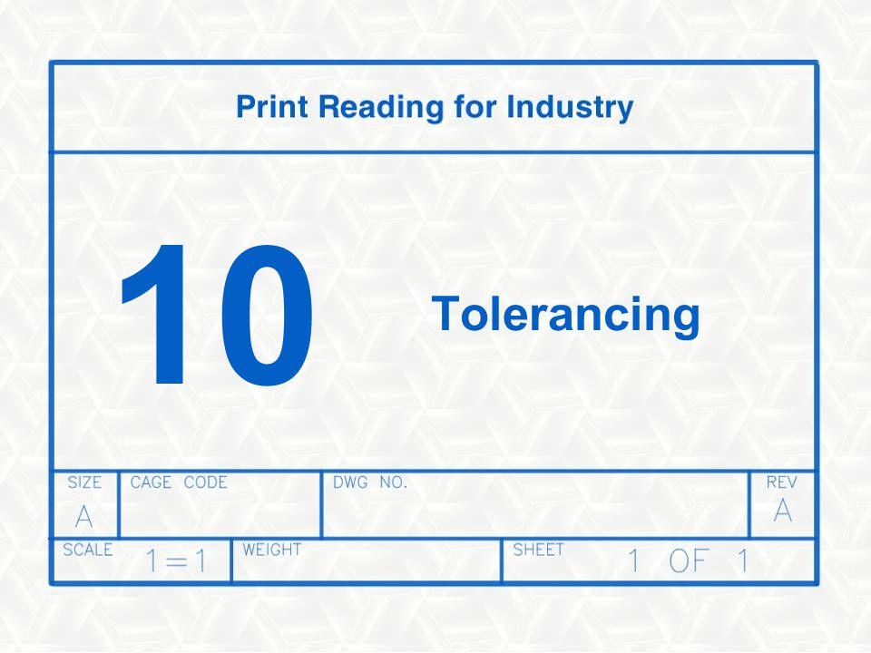 10 Tolerancing