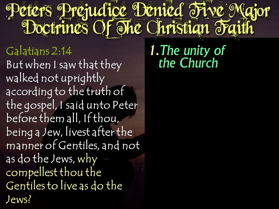 Galatians 2:14 But when I saw that they walked not uprightly according to the truth of the gospel, I said unto Peter before them all, If thou, being a Jew, livest after the manner of Gentiles, and not as do the Jews, why compellest thou the Gentiles to live as do the Jews