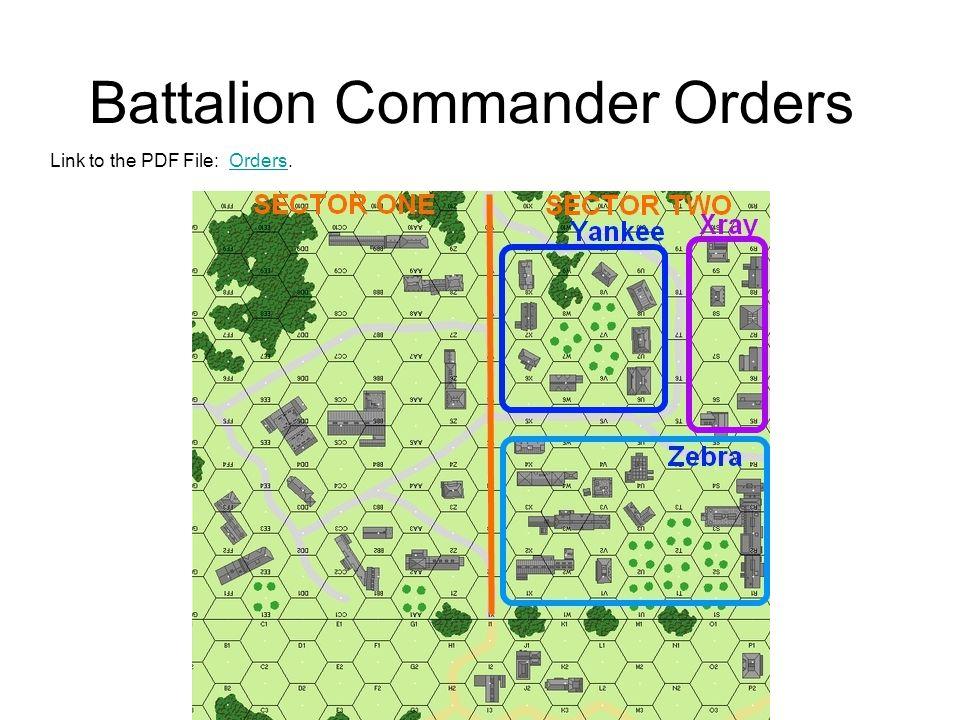 Battalion Commander Orders