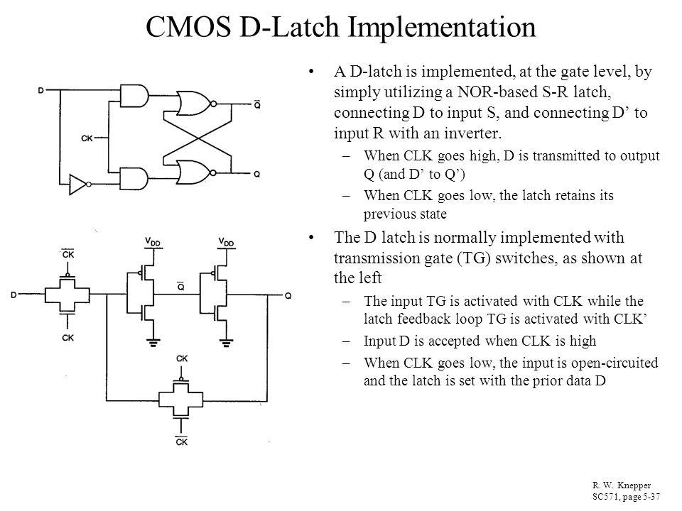 CMOS D-Latch Implementation