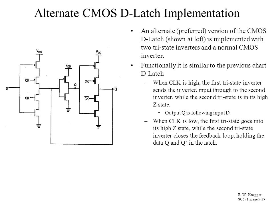 Alternate CMOS D-Latch Implementation