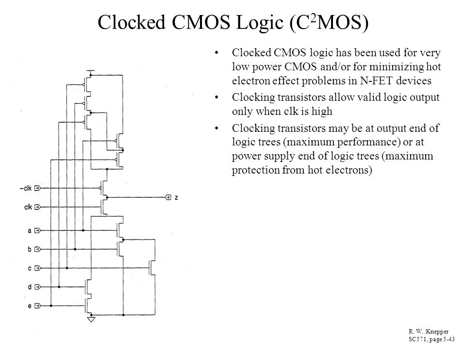 Clocked CMOS Logic (C2MOS)