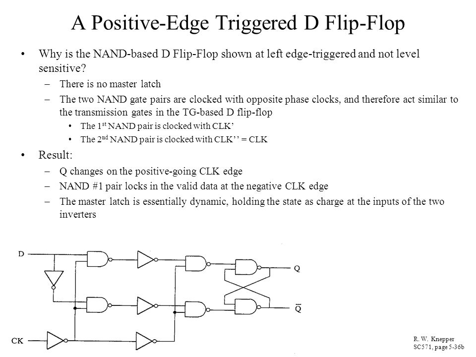 A Positive-Edge Triggered D Flip-Flop