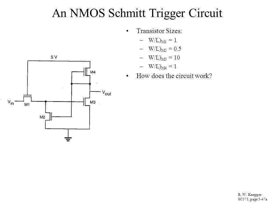 An NMOS Schmitt Trigger Circuit