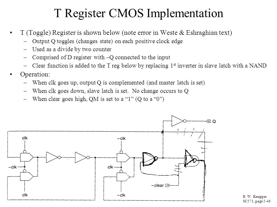 T Register CMOS Implementation