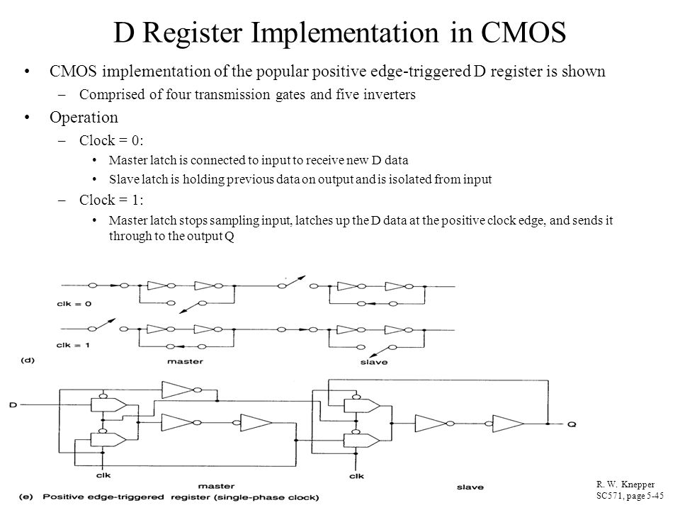 D Register Implementation in CMOS