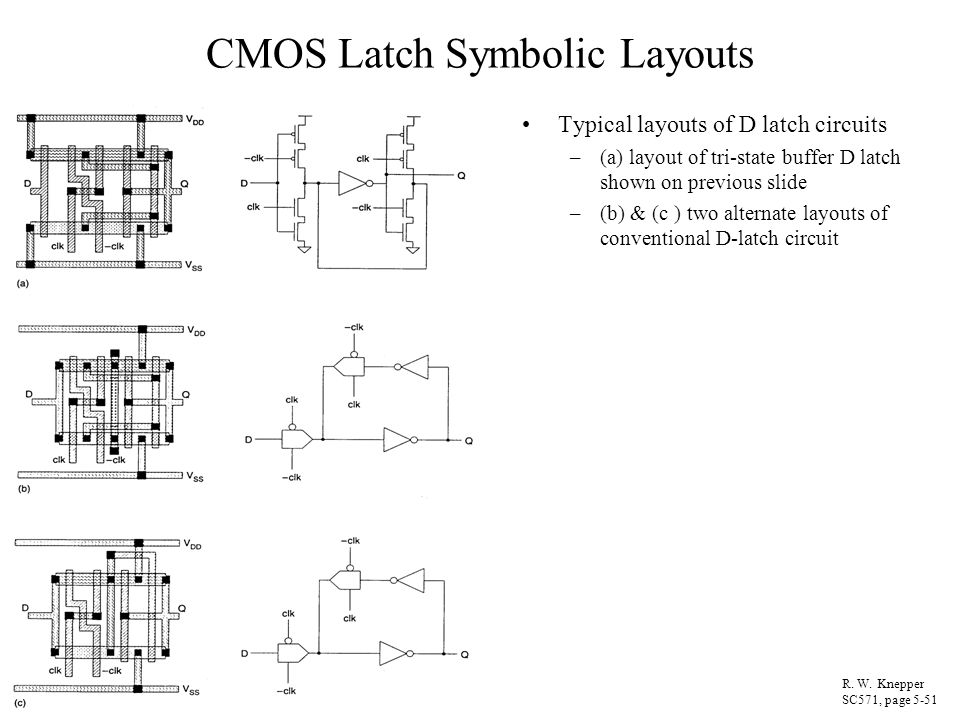 CMOS Latch Symbolic Layouts