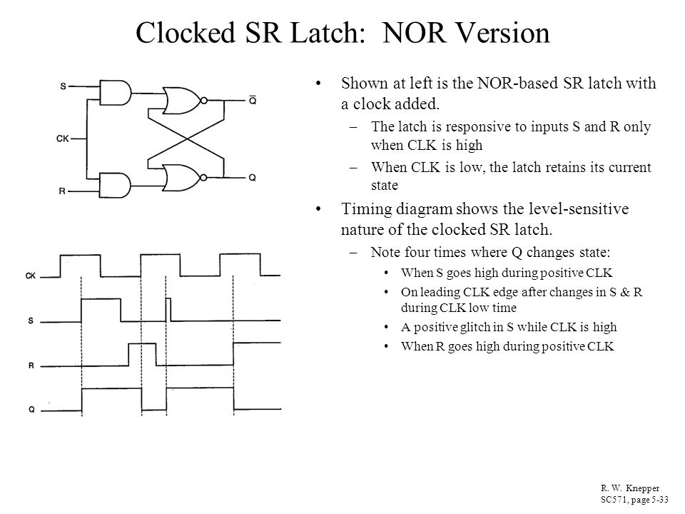 Clocked SR Latch: NOR Version