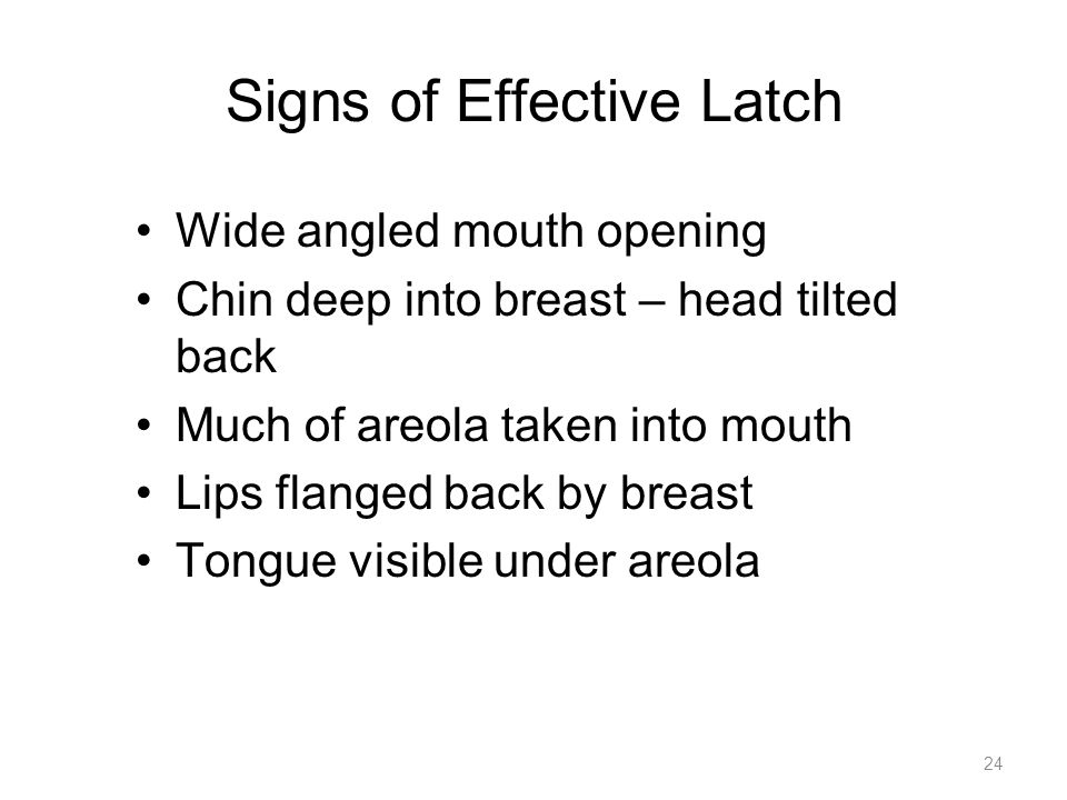 Signs of Effective Latch