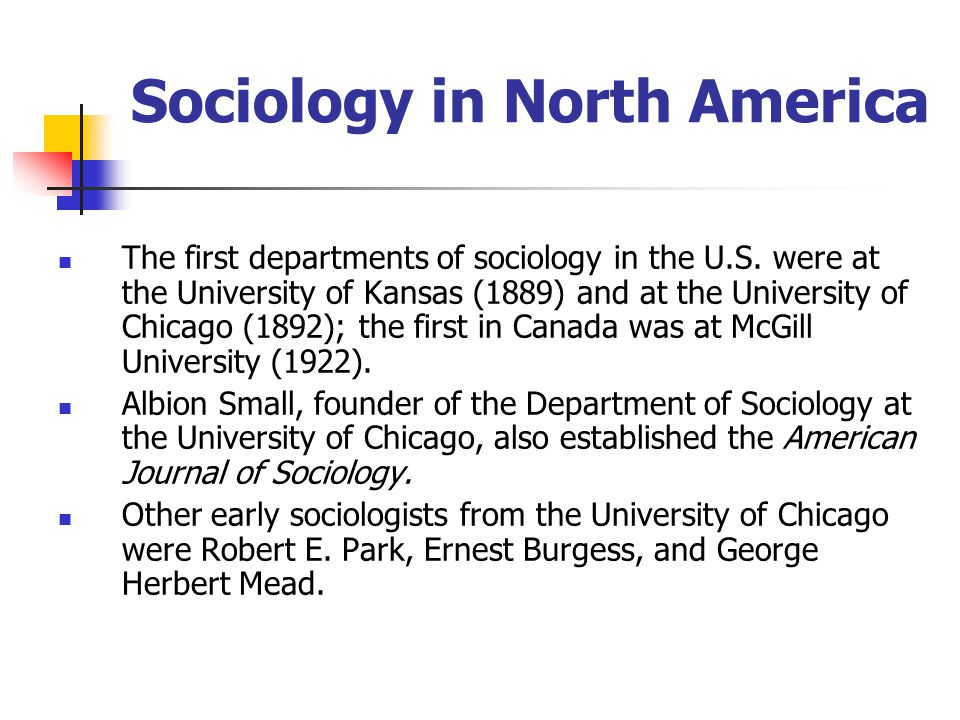 Sociology in North America