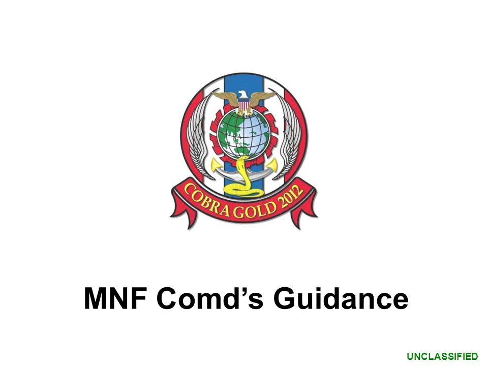MNF Comd's Guidance
