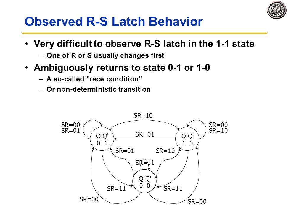 Observed R-S Latch Behavior