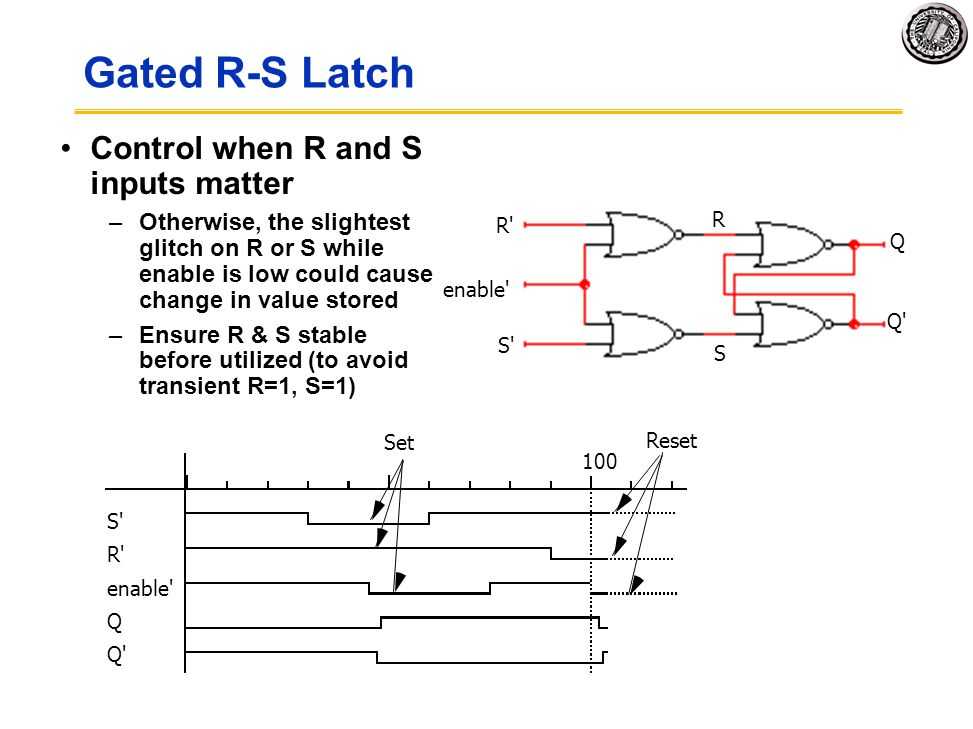 Gated R-S Latch Control when R and S inputs matter