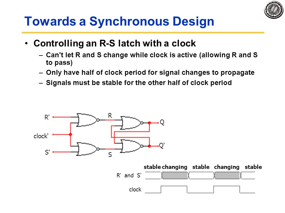 Towards a Synchronous Design