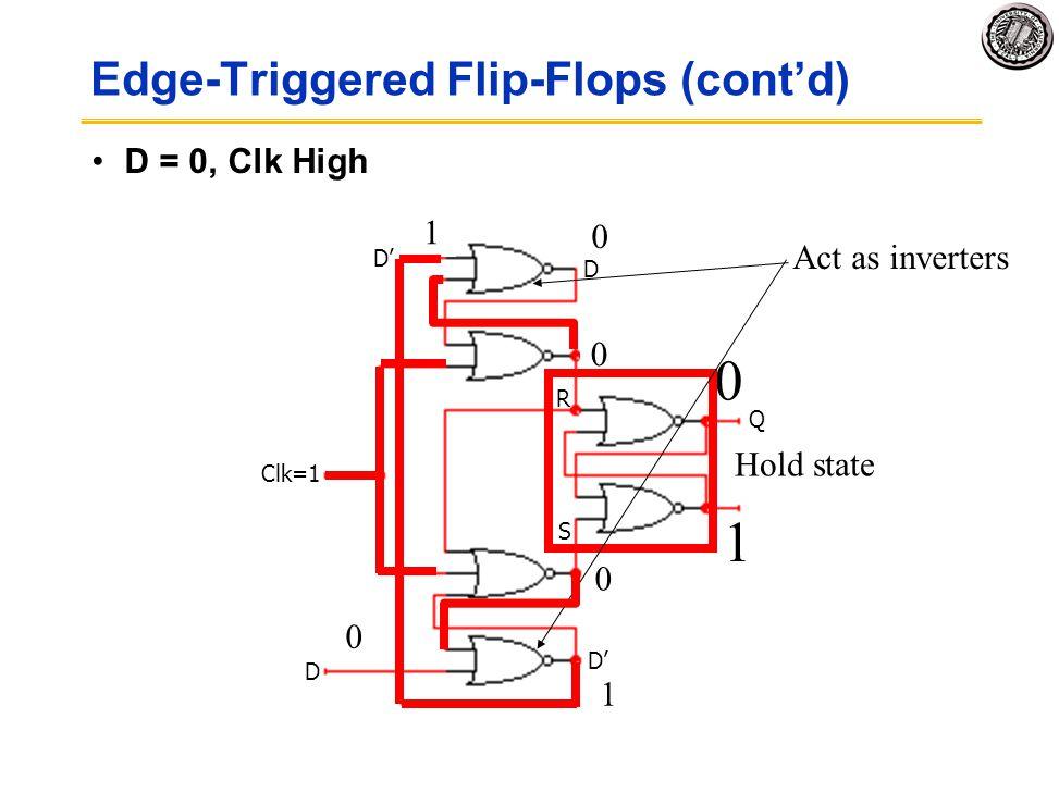 Edge-Triggered Flip-Flops (cont'd)