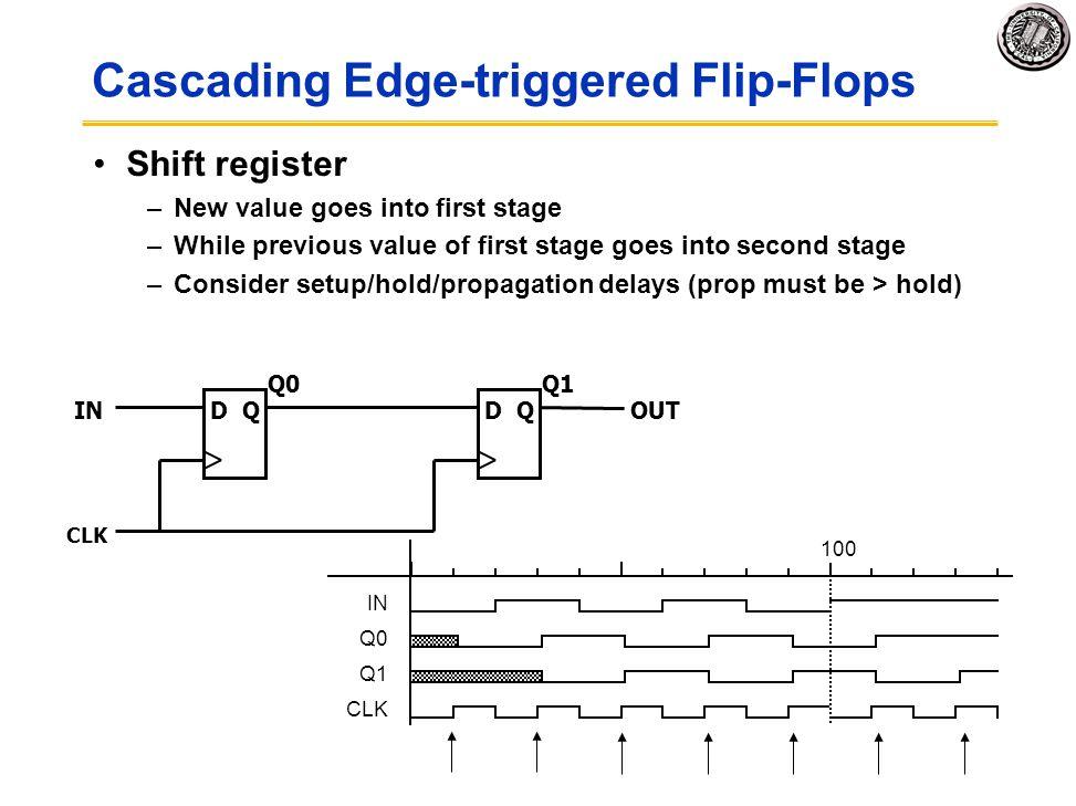 Cascading Edge-triggered Flip-Flops