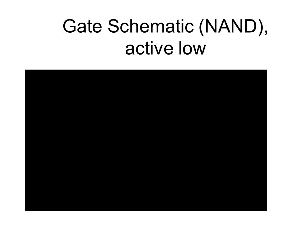Gate Schematic (NAND), active low