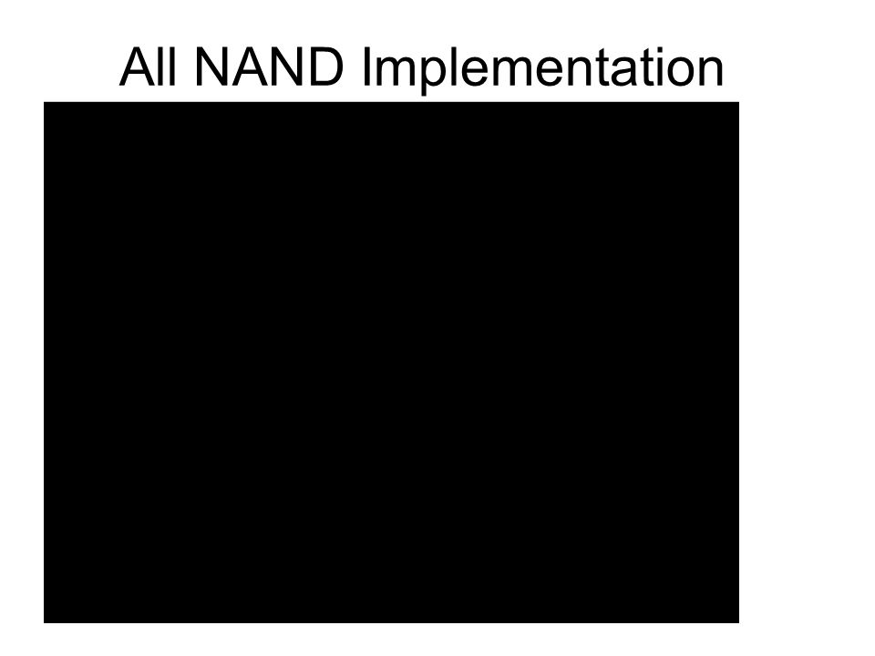 All NAND Implementation