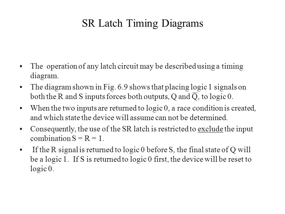 SR Latch Timing Diagrams
