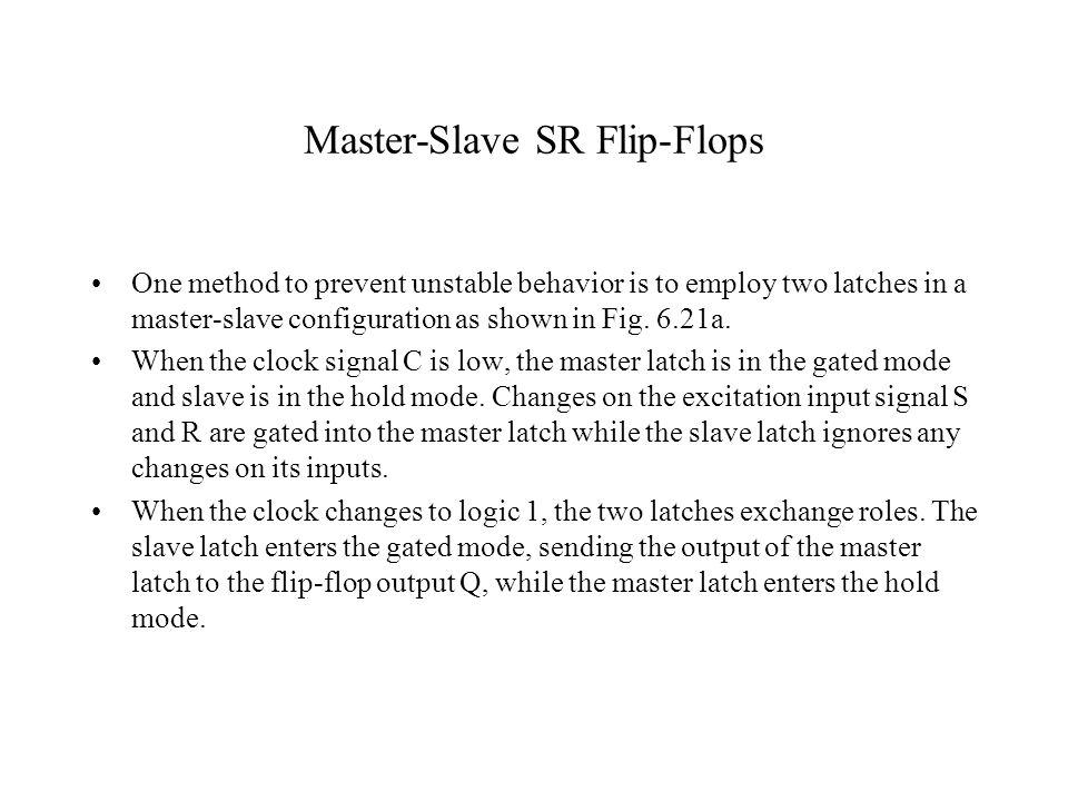 Master-Slave SR Flip-Flops