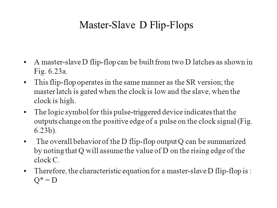Master-Slave D Flip-Flops
