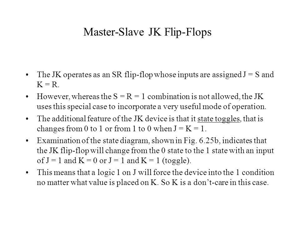 Master-Slave JK Flip-Flops