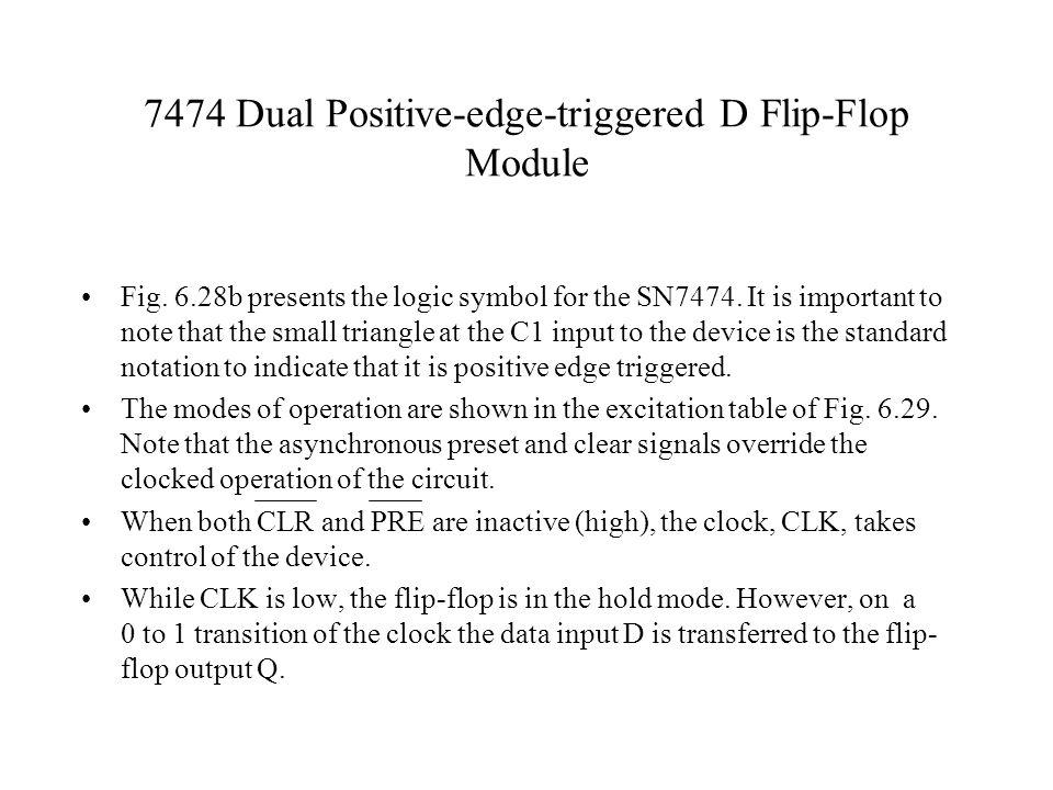 7474 Dual Positive-edge-triggered D Flip-Flop Module